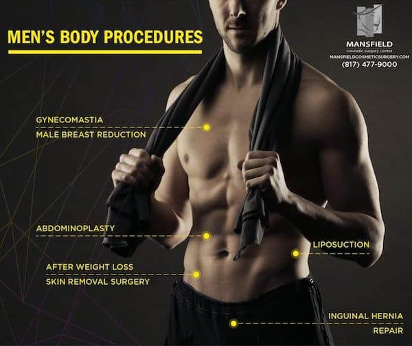 Male Cosmetic Surgery Procedures Mansfield Arlington Fort Worth